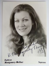 .Kathryn Montgomery-Meißner - Oper - Autogramm - autograph - signed