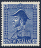 NEW ZEALAND 1926-34 JONES 2/- DEEP BLUE VERY FRESH MOUNTED MINT. GIBBONS 466.