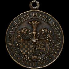 Protéger: Médaille 1884. SCHLESISCHES Schützenfest Jauer/Silésie ⇒ Jawor.