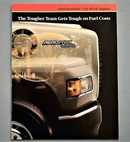 ORIGINAL FORD L9000 W/ CAT ATAAC  ENGINES SALES BROCHURE ~ 8 PAGES ~ FCATATA