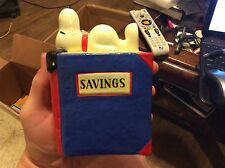 Vintage Ceramic Snoopy on Book Bank with Stopper