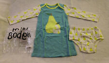 Nib Mini Boden Pear Applique Dress 2-3 2T 3T Toddler Girl