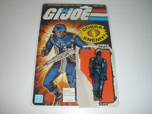 Cobra Officer Straight Arm 1982 GI Joe ARAH Hasbro Vintage With Card No Weapon