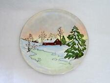 1959 Handpainted Winter Scene by Cora Burden CHEVY-CHASE Syracuse China Plate
