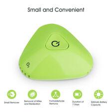 Green Mini Portable Air Purifier Ozone Generator Odor Remover