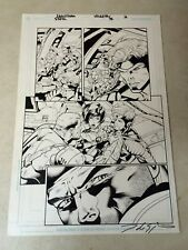 Sigil #36 original art Crossgen Sci Fi, 2003, Autographed, Invasion, Team Fight
