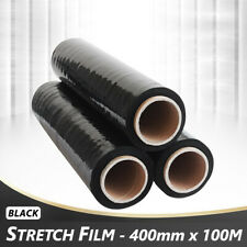 12 - STRONG ROLLS BLACK PALLET STRETCH SHRINK WRAP CAST PACKING CLING FILM