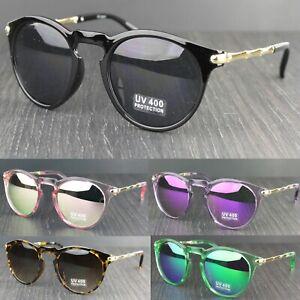 Womens Oval Lens Metal & Plastic Frame Keyhole Sunglasses UV400