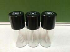 3 CHANEL CC Logo Mini Glass Bottle Jar  Travel Size, Perfume Makeup Cream