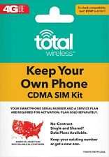 Total Wireless Bring Your Own Phone (Byop) (Cdma) Triple-cut Sim Kit