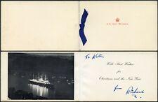 More details for royal yacht britannia christmas card c1950