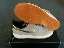 NEW NIKE AIR FORCE 1 07 PRM SUEDE WOMENS SZ 11 AF1 METALLIC GOLD 818595 200 RARE
