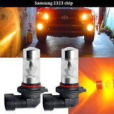 2X H10 9145 60W 12-SMD Samsung 2323 LED Fog Lights Amber Yellow Driving Bulbs