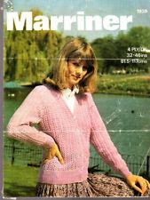 Marriner Knitting Pattern, Lady's Summer Cardigan, 32-46in, 1939