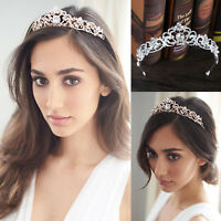 Bridal Crystal Rhinestone Hair Crown Headband Wedding Tiaras Headband Crown