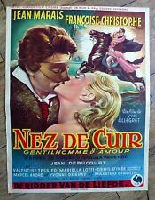 belgian poster NEZ DE CUIR, JEAN MARAIS, FRANCOISE CHRISTOPHE, ALLEGRET