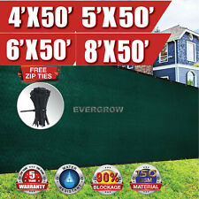 Privacy Screen Fence Mesh Windscreen Outdoor 4',5',6',8' 50' Fencing UV Block