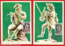 1967 - LA PAIRE FDC CP 1°JOUR**CROIX ROUGE - MUSEE DE DIEPPE - TIMBRE/Yt.1540/1