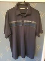 Travis Mathew Blue Golf Polo Shirt Mens Large L Nice