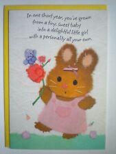 "Hallmark ~ ""HAPPY 1st BIRTHDAY"" GREETING CARD + YELLOW ENVELOPE"