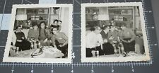 TWO 1950's Party Men GROUCHO MARX Funny EYES NOSE MASK GLASSES Vintage PHOTOs