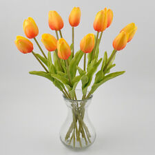 Tulip Artificial Flower Latex Real Touch Bridal Wedding Bouquet Home Decor