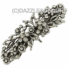 Pasador de pelo Clips de Pelo Horquillas Cabello Clip de plata vintage francés Clip diamantes diapositiva de Pelo