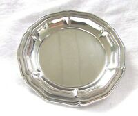 German-835 Coin Silver-ANTIQUE HOROVITZ-Jewelry Dish/Miniature Plate Bowl 1900's