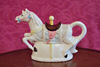 Vintage Rare Decorative Novelty Porcelain Tea Pot 'Carousel Horse'