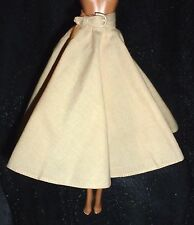 BOTTOM ~ BARBIE DOLL MODEL MUSE TAN AUDREY HEPBURN SKIRT & BELT CLOTHING