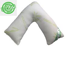 V Shape BAMBOO MEMORY FOAM Pillow Back Neck-Nursing Support-Orthopedic-Pregnancy