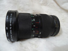 Canon FD 35-105mm CONSTANT f3.5 macro lens with filter optics no scratches