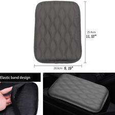 Auto-Mittelkonsole Armlehnenkissen Abdeckkissen verschleißfestes graues Leder