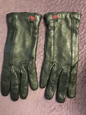 Nwot Authetic Gucci Leather Wime's Gloves Suze 7 1/2  Black