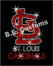 "Rhinestone Transfer ""St. Louis Cardinals"" Hotfix , Iron On, Bling"