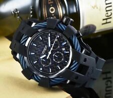 MENS INVICTA BOLT 23868 BLACK SILICONE BAND S/STEEL CASE CHRONOGRAPH WATCH