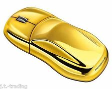 "*New/Box* OEM PORSCHE DESIGN 911 ""GOLD EDITION"" COMPUTER USB MOUSE! PC & Mac"