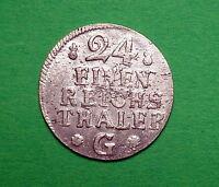 1/24 Reichstaler Preußen 1753 G, Stettin Erhaltung vorzüglich !