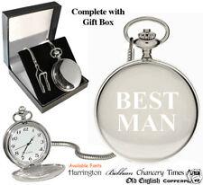 Best Man Bestman Engraved Pocket Watch Personalised