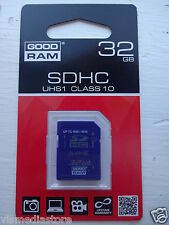 32Gb UHS-1 Class10 80MBs/sec SDHC Memory Card GoodRam Secure Digital Grab It
