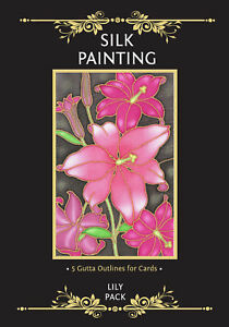 Silkcraft Silk Painting - Gutta Outlines - Card Making - Lily Pack (Pack of 5)