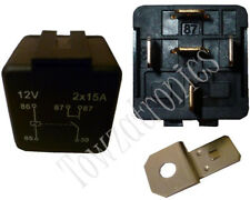 12V Single Contact Twin Output N/O 5 pin Standard Relay 2 x 15A