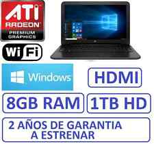"Ordenador portatil HP 15"" 8Gb RAM , HD 1Tb, HDMI ATI RADEON R2 1696MB WINDOWS"
