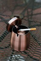 Cigar&Cigarette Ashtray Indoor Outdoor Covered Copper Wind Safe For Patio Large