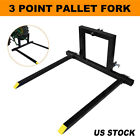 3 Point Pallet Fork Attachment Category 1 Quick Hitch Logs Fields 1500 lbs
