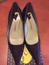 MIGLIORINI Kitten HEEL Ladies size 35 1/2  Burgundy  Shoes Italy