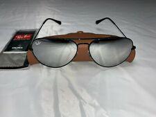 Ray-Ban Aviator Sunglasses RB3026 62mm 002/30 Black Frame Silver Mirrored Lenses