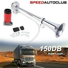 150db 12v Super Loud Air Horn Compressor Single Trumpet For Truck Train Boat Car