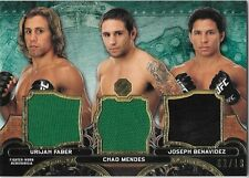 2014 Topps UFC Knockout Triple Threads Relic FABER MENDES BENAVIDEZ 02/18