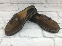 Born womens sz 7 Brown Leather Slip On Moc Toe Driving Moccasin Loafers Shoes